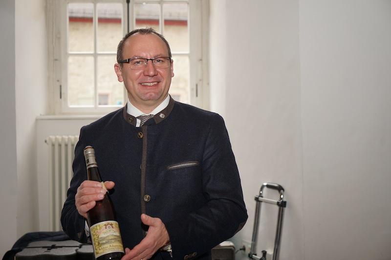 Geschäftsführer Stefan Doktor der Fürst von Metternich-Winneburg'sche Domäne Schloss Johannisberg zeigte sich gut gelaunt im Kloster Ebernach