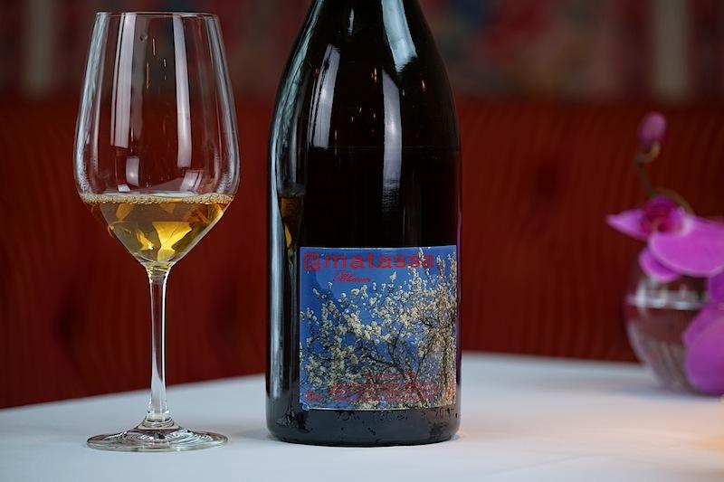 """Zur vierten Vorspeise wurde ein Matassa """"Blossom"""" Blanc von der Côtes du Roussillon gereicht"""