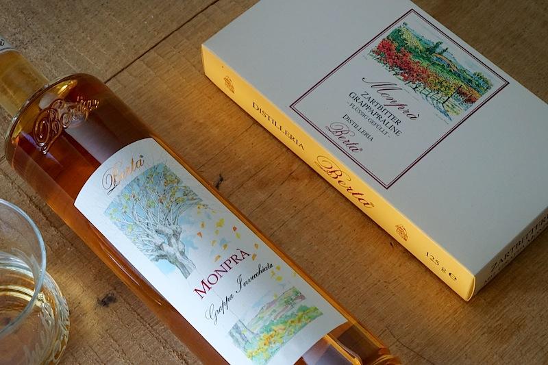 Berta Grappa Monpra: Für den Ausbau des Monprà wählte man bei Berta Fässer aus slawonischer Eiche, in welchen ganz klassisch italienische Weine ausgebaut werden