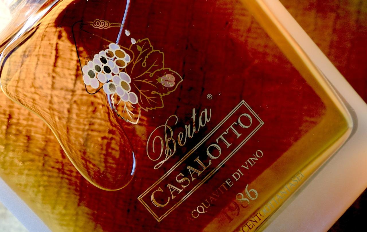 Der Weinbrand Casalotto von Berta ist ein weicher und feiner Brand