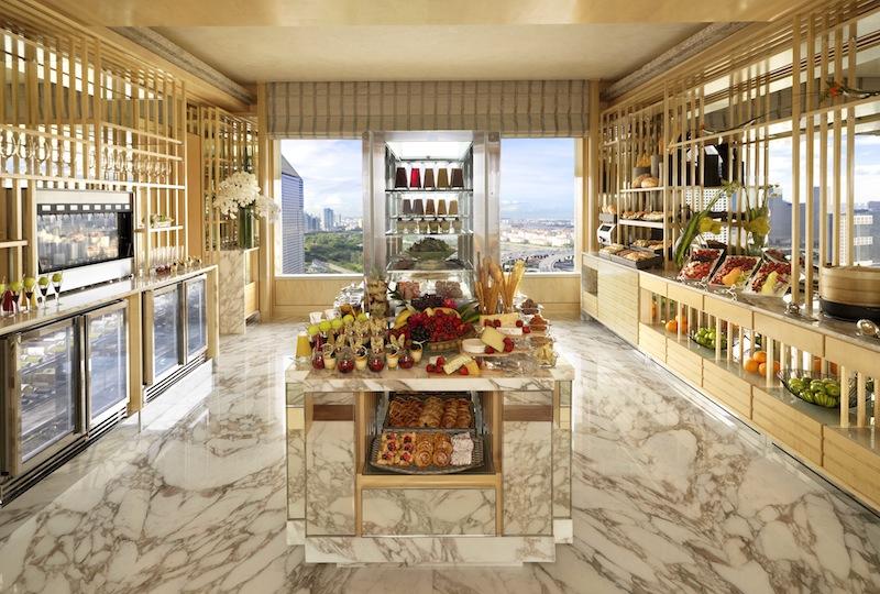 Frische und gesunde Köstlichkeiten - nahezu - rund um die Uhr, im Ritz-Carlton Club