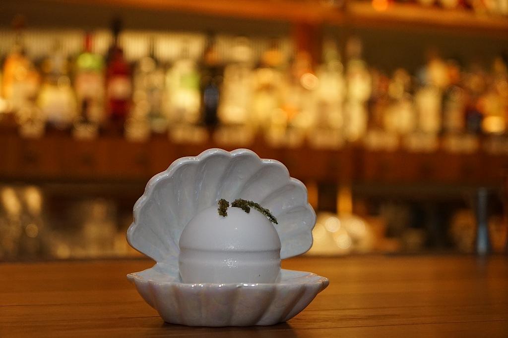 Außergewöhnliche Präsentation der Drinks: The Pearl