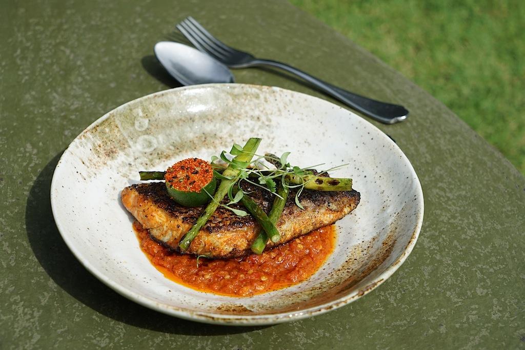 Gebratener Fisch, mit einer leichten Schärfe fantastisch im Geschmack