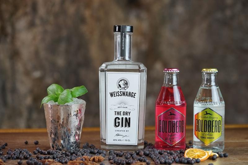 The Dry Gin von Weisswange lässt sich auch hervorragend mit Tonic von Goldberg mixen