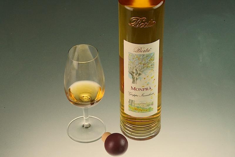 Der Grappa Monprà gehört zu den Basis-Grappas der Distilleria Berta