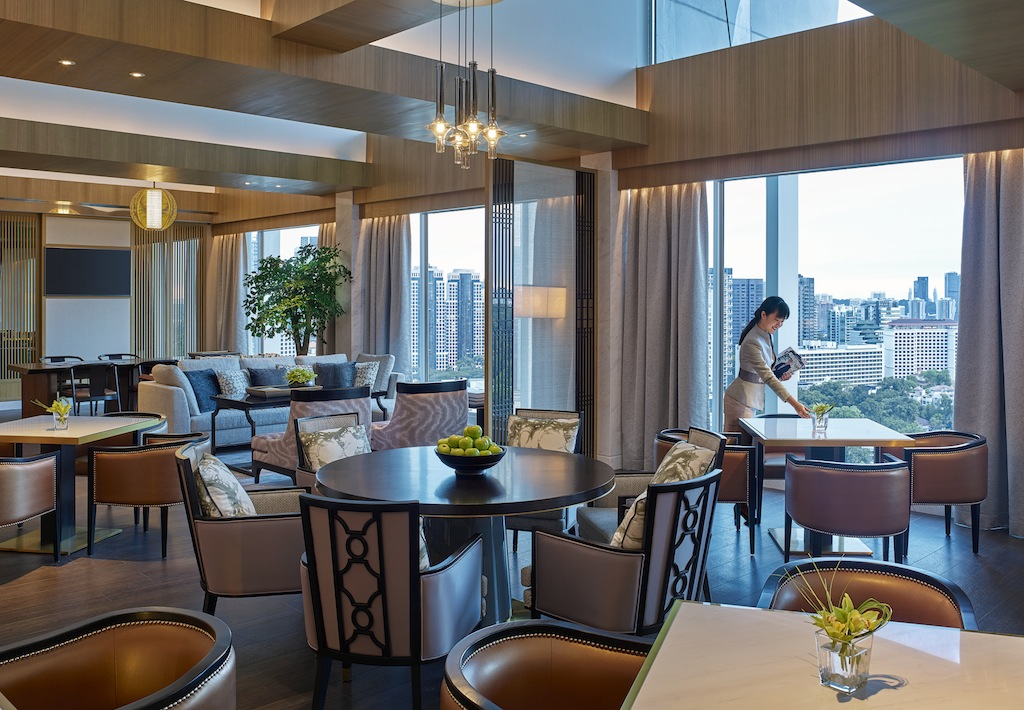 Die neue Horizon Lounge auf der obersten Etage ist das neue Herzstück des Shangri-La Hotels in Singapu
