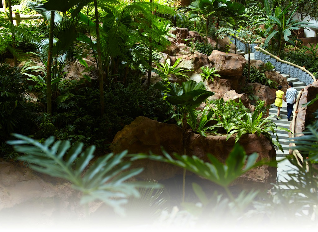 Die Gästezimmer im Garden Wing betritt der Gast über einen wunderschön angelgten Innengarten