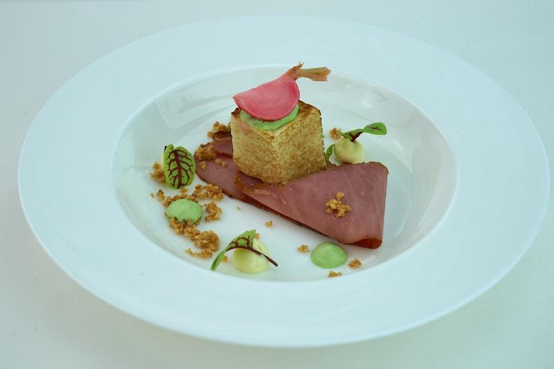 Christoph Brand präsentierte seine Nordhessische Pastrami in frischen Frühlingsfarben
