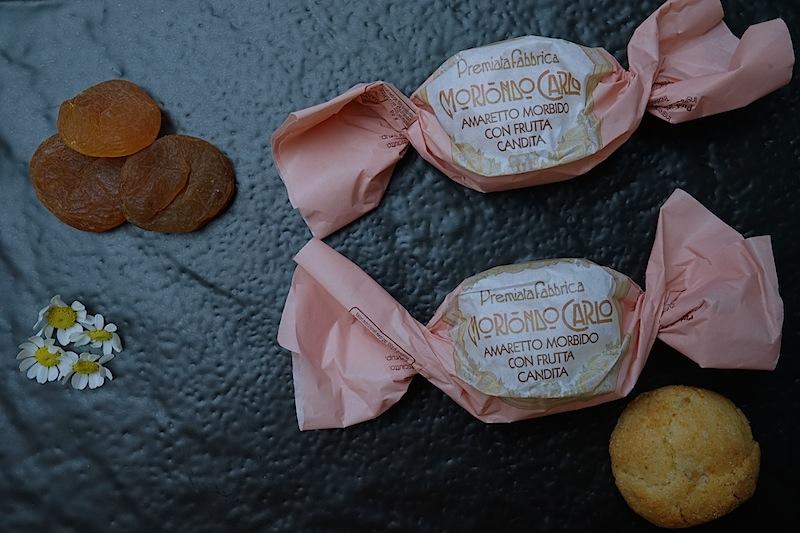 Eine gelunge Mischung aus Mandeln und kandierten Früchten ist der Moriondo Carlo Amaretto Morbido con Frutta Candita