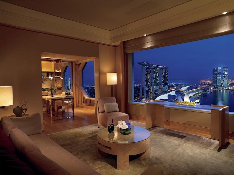 Die Millenia Suite mit einem Schlafzimmer - höchster Komfort für Alleinreisende auf 102 Quadratmetern