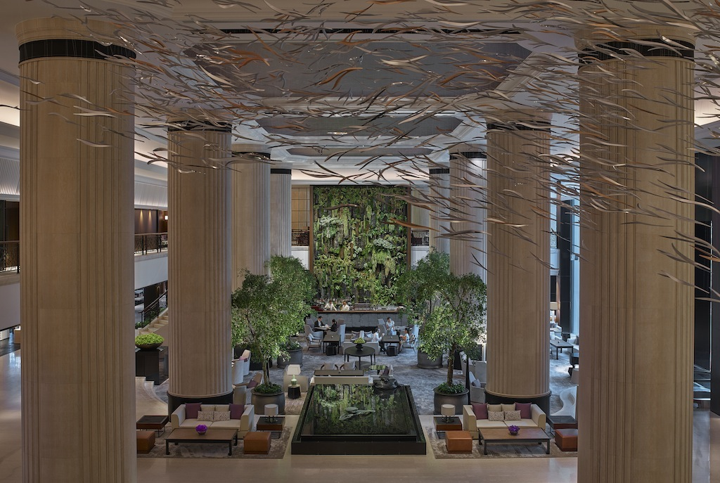 Die Liebe zur Natur erfährt der Gast auch schon beim Betreten der Lobby