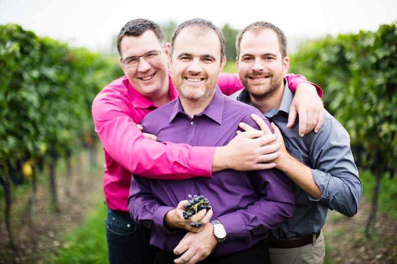 Die Brüder Christian, Hannes und Michael Reinisch produzieren hervorragende Weine