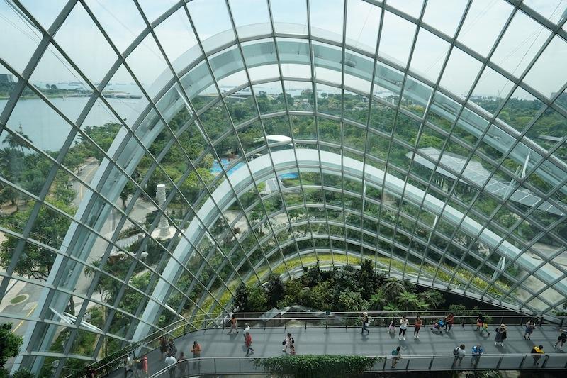Über den Skywalk können Besucher den gesamten Dome im Inneren umrunden