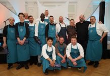 Die Küchenheiligen und die, die es noch werden wollen. 9 Chefköche und der Kochnachwuchs der Berufsschule Bad Doberan waren die Protagonisten des heutigen Gourmetfestivals