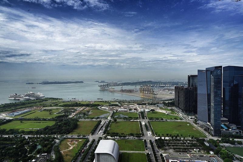 Singapur will weiter wachsen. Nach und nach wird dem Meer Land abgerungen. Die freien Flächen werden bald bebaut