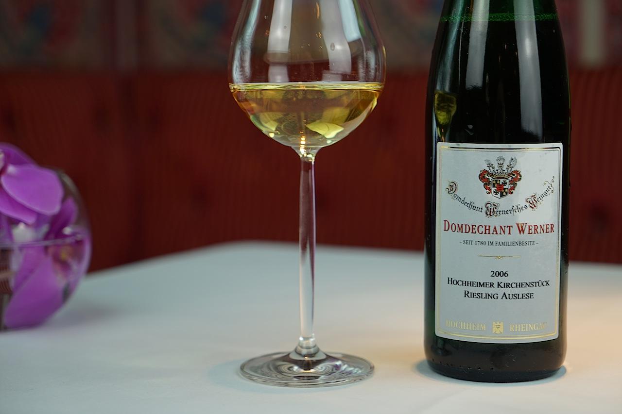 Die 2006 Hochheimer Kirchstück Riesling Auslese begleitete den letzten Akt des krönenden Dinners
