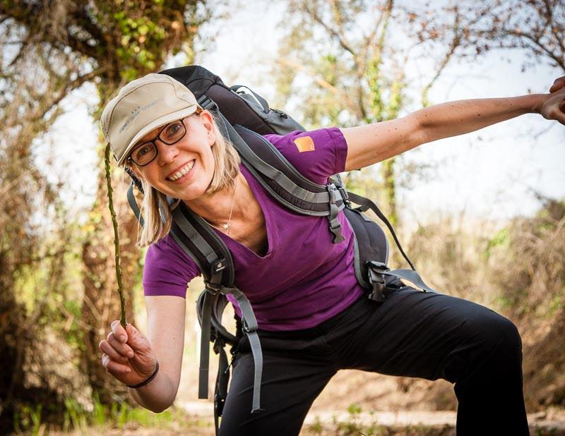 Endlich ein Treffer für FrontRowSociety-Redakteurin Angela Berg! Ein Prachtstück von einer wilden Spargelstange / © FrontRowSociety.net, Foto: Georg Berg