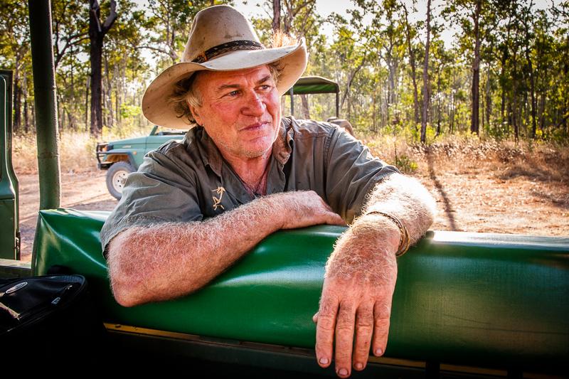 Sab Lord, die Outback-Legende, kennt den australischen Busch wie kein Zweiter / © FrontRowSociety.net, Foto: Georg Berg