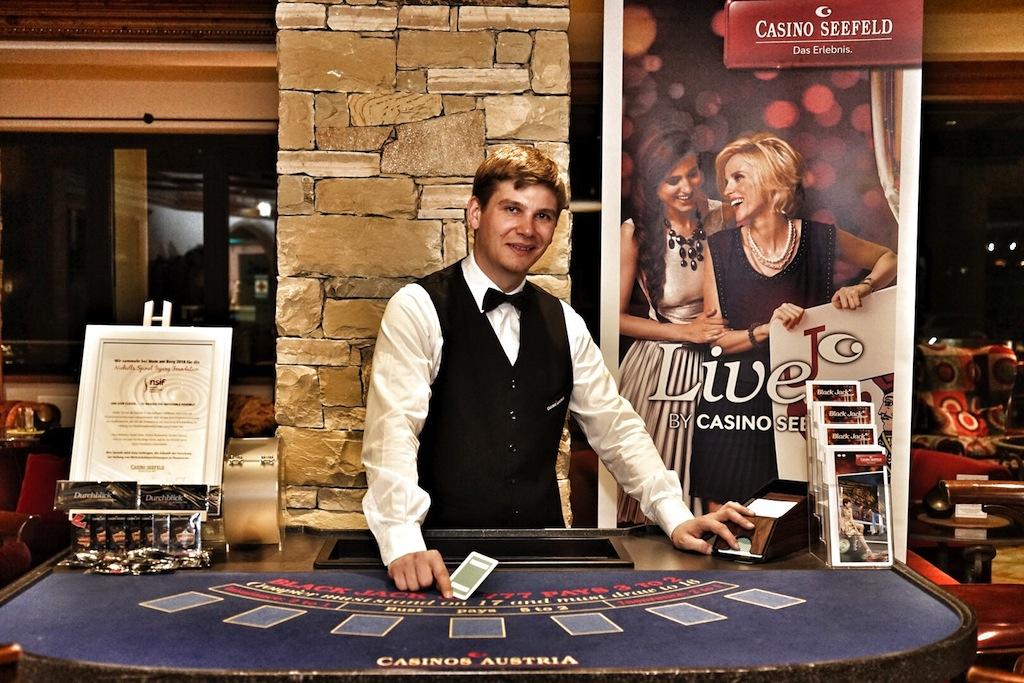 Das Casino Seefeld war mit Spieltischen angereist, eine gute Gelegenheit sein Glück im Spiel zu versuchen