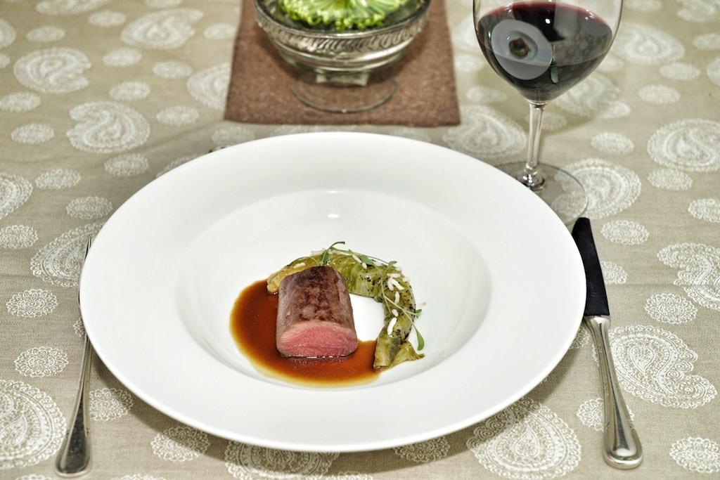 Der Rehrücken war eine traumhafte Kreation von Chef de Cuisine des Restaurants Le Ciel in Wien, Roland Huber