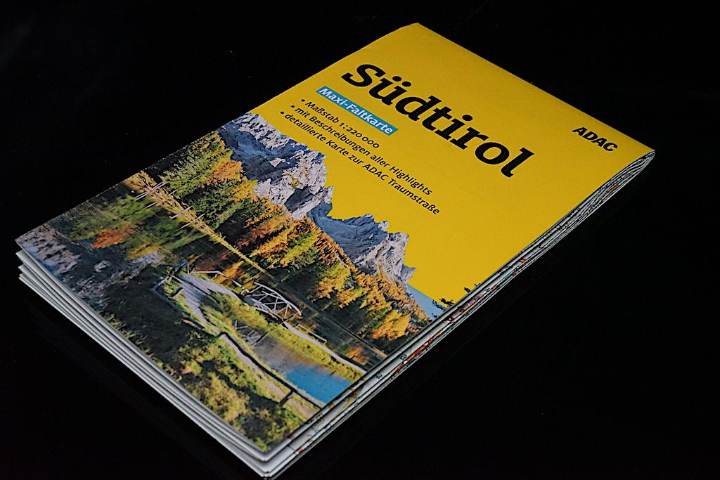 Praktisch: Der ADAC Maxi-Falter Südtirol