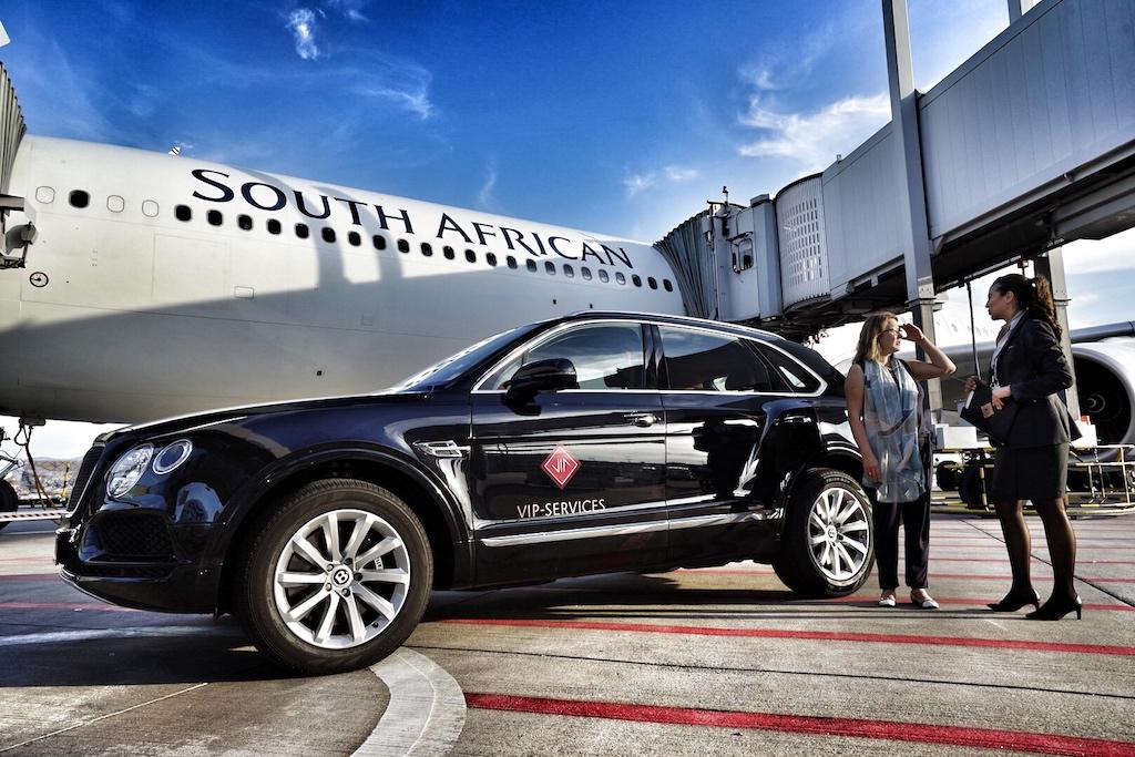 Mit South African Airways nach Johannesburg und weiter nach Kapstadt. Einen Dank an den VIP Service vom Frankfurt Airport für die Annehmlichkeiten vor dem Flug