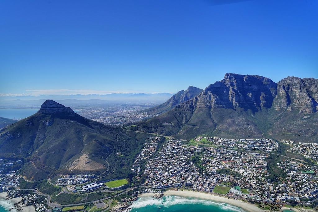 Aus der Luft kann man die Struktur der Kap-Region sehr gut erkennen