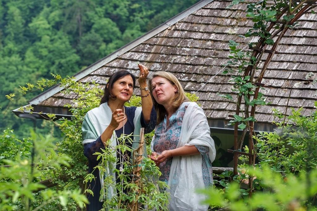 Erkenntnisse: Ihr schier unermessliches Wissen um Heilpflanzen teilt Renate (li.) gerne auf Themenwanderungen und Workshops