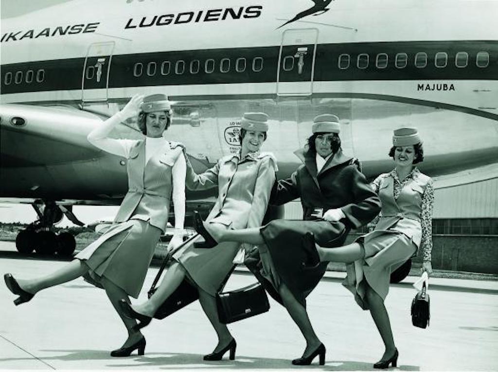 South African Airways wurde 1934 gegründet und weist somit über 84 JahreErfahrung auf - früher hatten die Fotos noch einen anderen Look