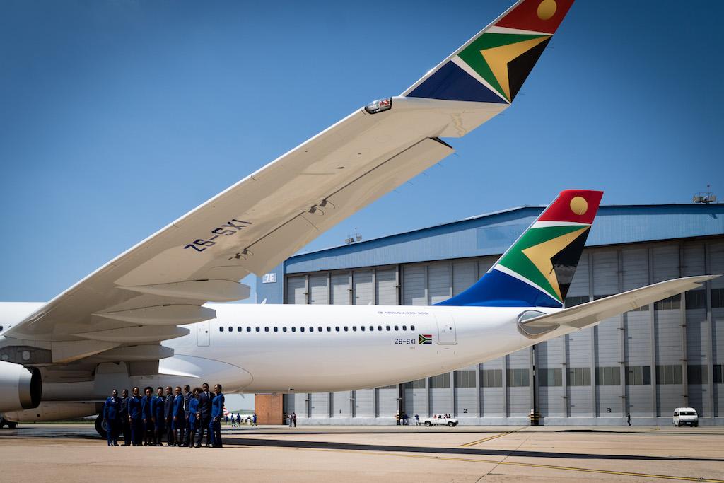 Mit dem modernen A330-300 von SAA ging es weiter nach Kapstadt