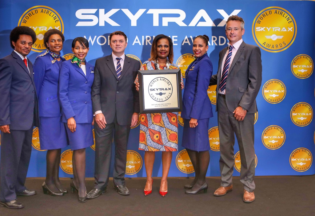 Skytrax Airline Arwards: 2018 zählt South African Airways auch wieder zu den besten Fluggesellschaften und hat sich sogar gegenüber dem Jahr 2017 um 4 Plätze steigern können
