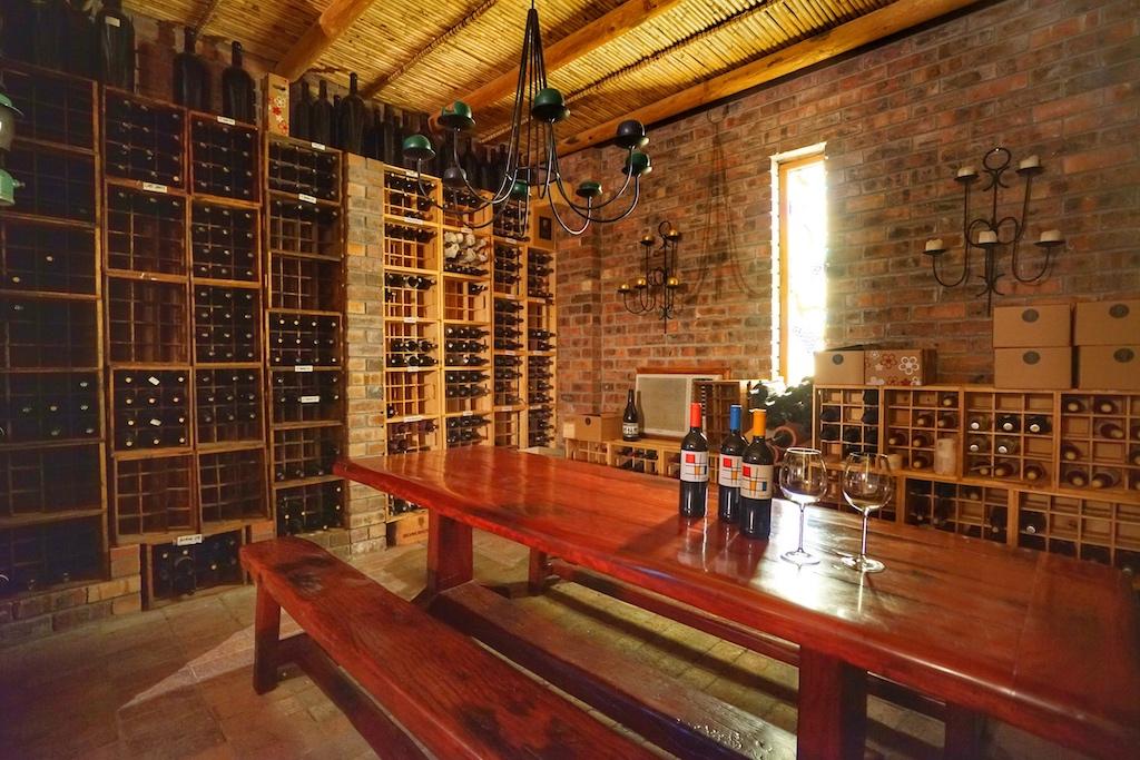 Der Tasting Room ist nach Susan's Vorstellungen geschaffen worden. Hier werden die Gäste vom Susan vinophil umsorgt