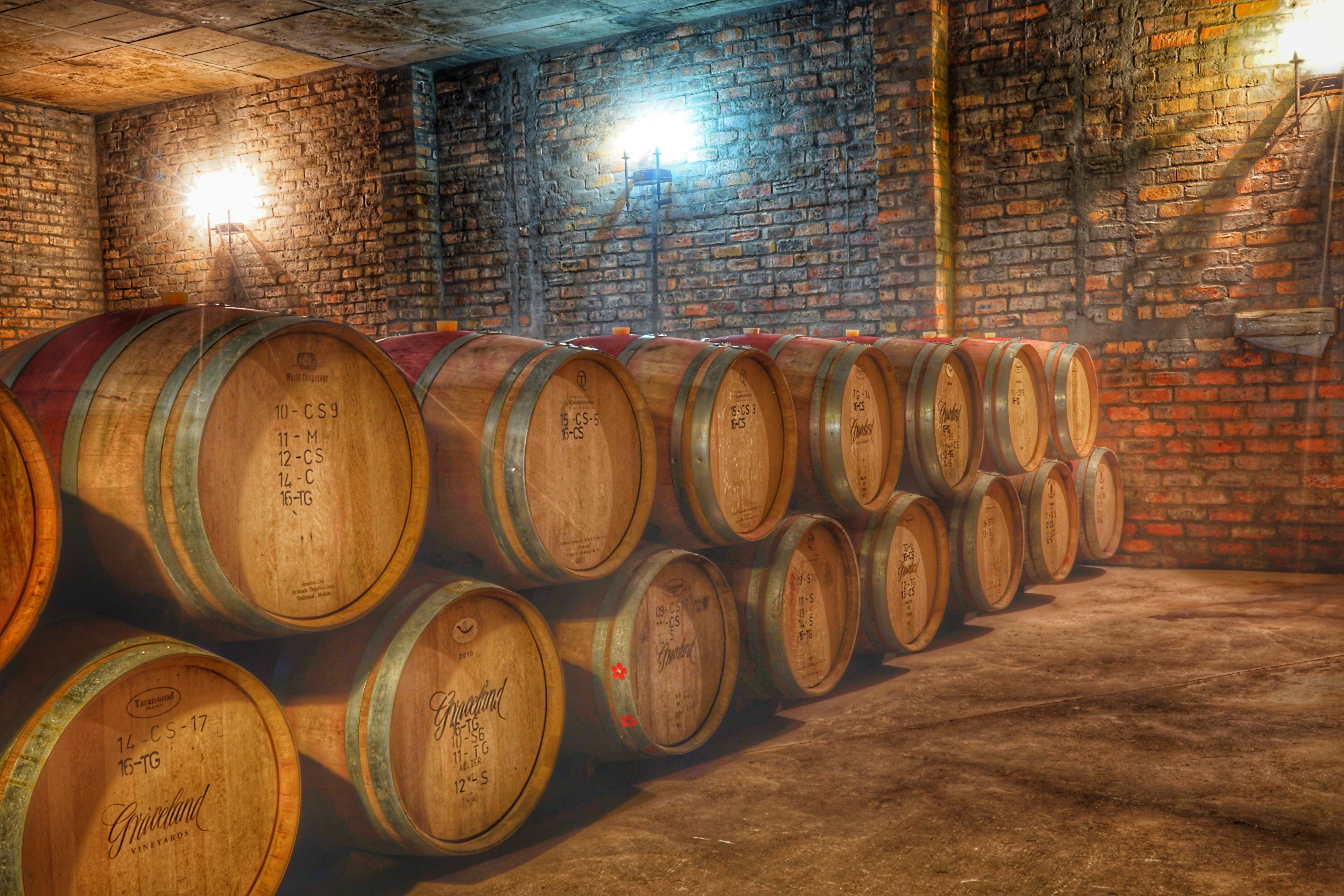 Im Graceland Weinkeller lagern die Wein bis zur richtigen Reife