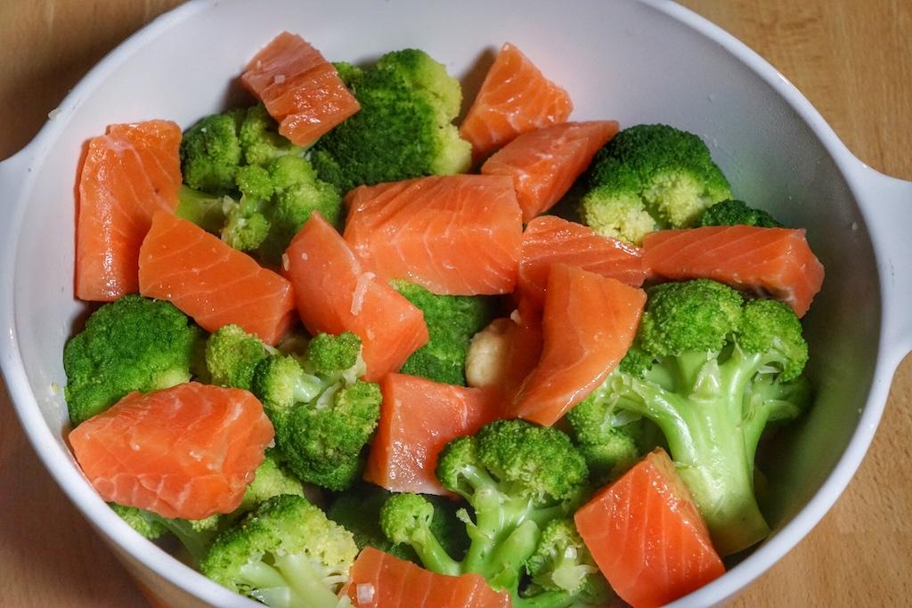 Das sieht doch schon recht gesund aus - schmackhafte, frische Zutaten
