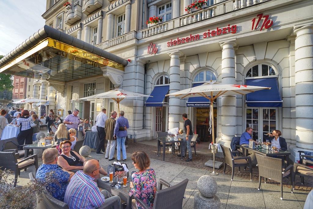Bei bestem Wetter startete das Gourmetfestival im Luxushotel Fürstenhof in Leipzig