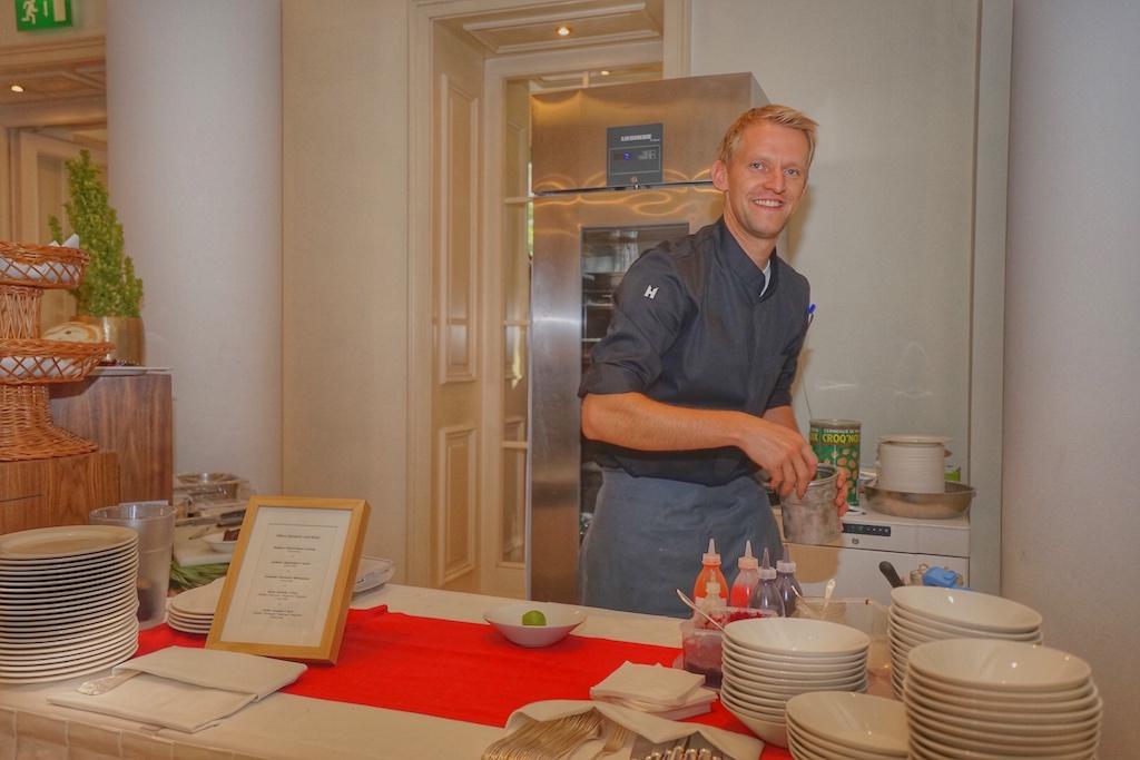 Matthias Carben hatte alle Händen voll zu tun, denn als kulinarischer Hausherr war er an diesen drei Tagen sehr gefragt