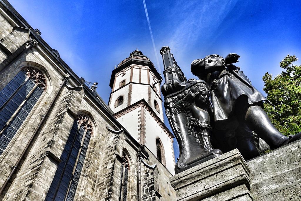 Die Thomaskirche in Leipzig ist ein Besuchermagnet