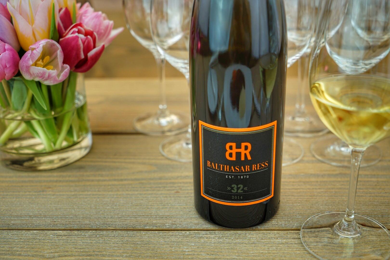 """2014 Riesling """"32"""" - im Weingut Balthasar Rees lagerte dieser 32 Monate auf der Hefe"""