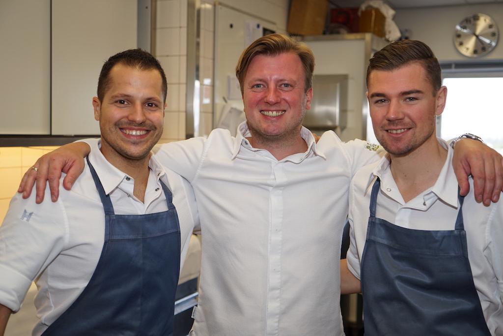 3 Sterne Koch Kevin (mi.) Fehling reiste mit zwei seiner Teammitglieder nach Amsterdam