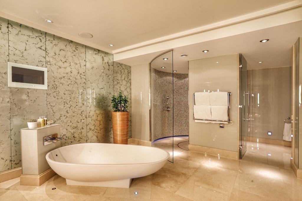 Das Badezimmer der Imperial-Suite ist Luxus pur.... /