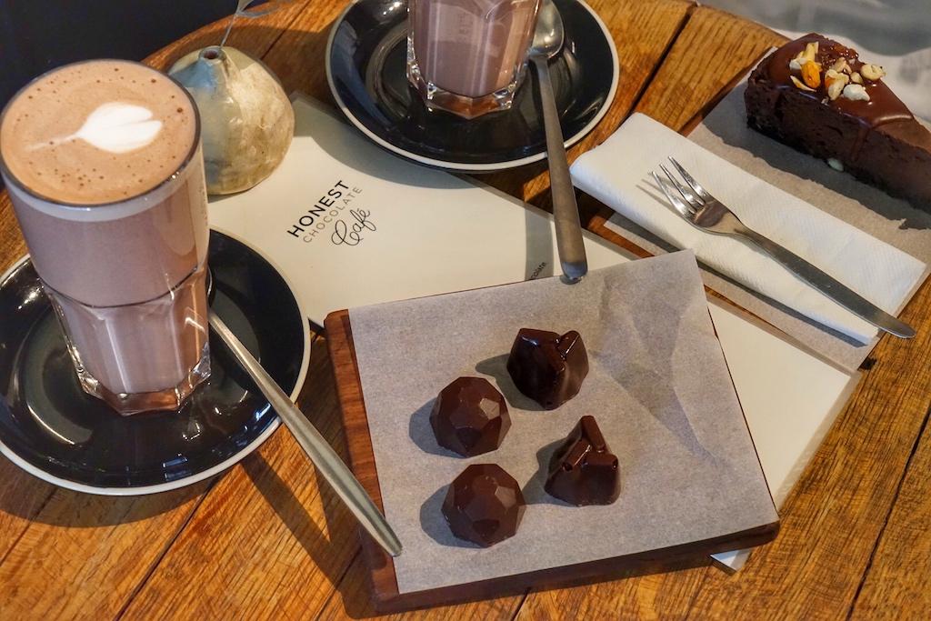... oder die kleine Chocolaterie Honest, wo es einzigartigen Schokoladengenuss gibt