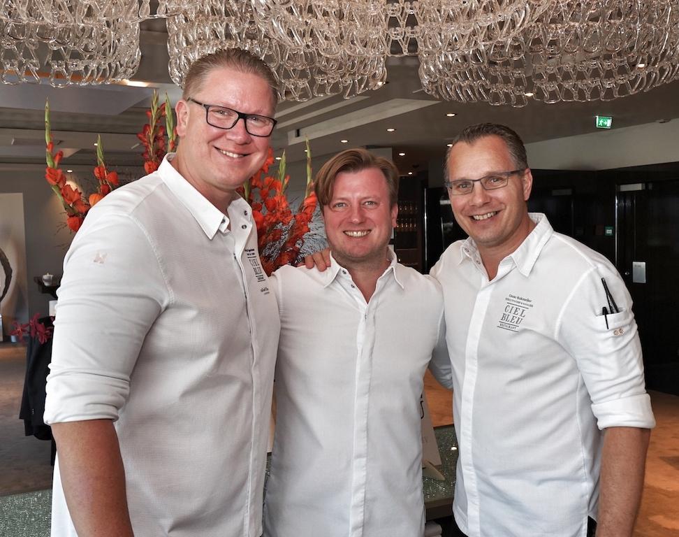 Spitzenköche par excellence v.l.n.r.: Arjan Speelman, Kevin Fehling, Onno Kokmeijer