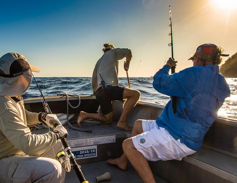 Noch wissen wir nicht, welchen Fisch Steward am Haken hat / © FrontRowSociety.net, Foto: Georg Berg