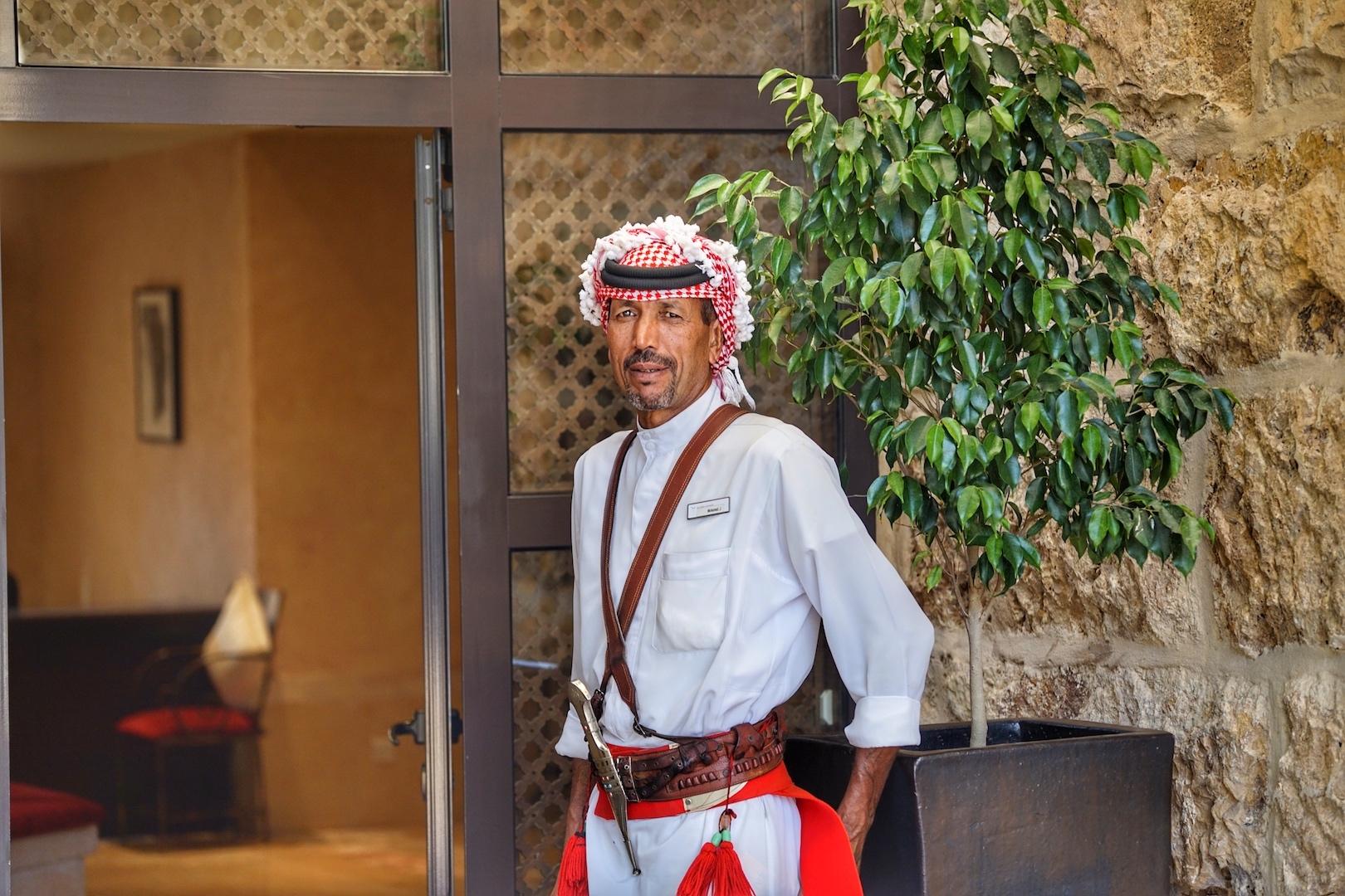 Der immer freundliche Empfang; auf Wunsch wird der arabische Kaffee gereicht