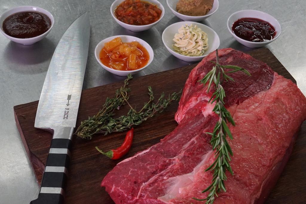 Erstklassiges Fleisch findet in der Steaktrain-Küche Verwendung