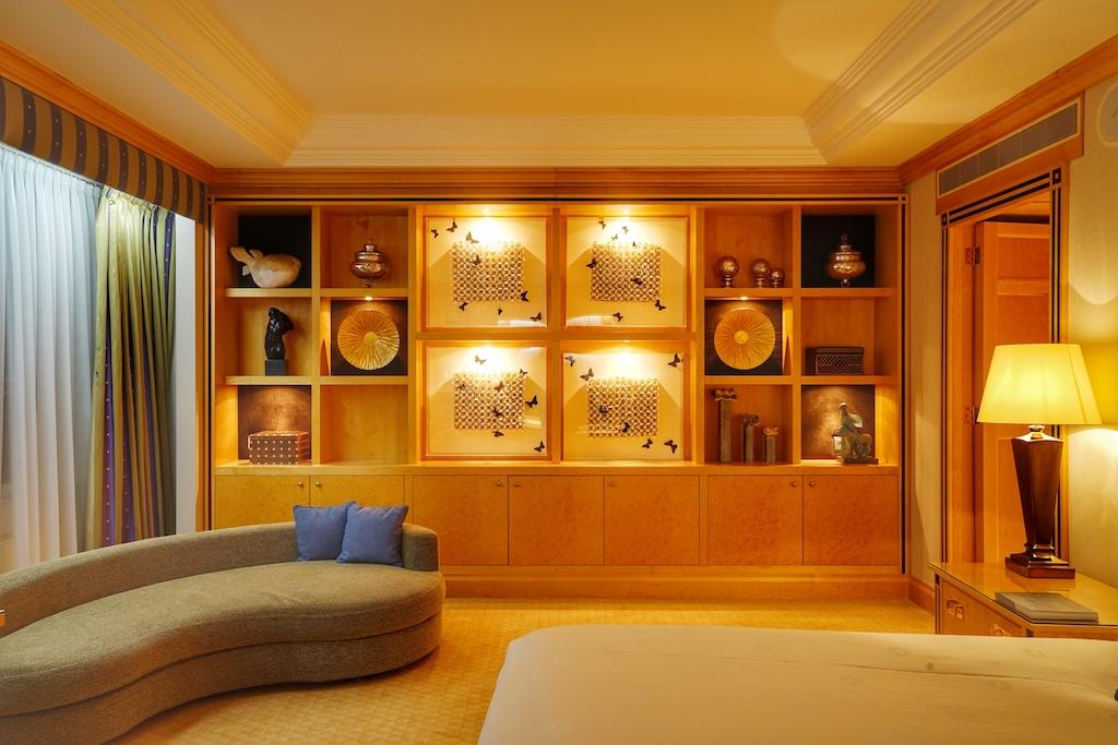 Luxuriöse Gemütlichkeit finden Gäste in der Präsidenten-Suite /