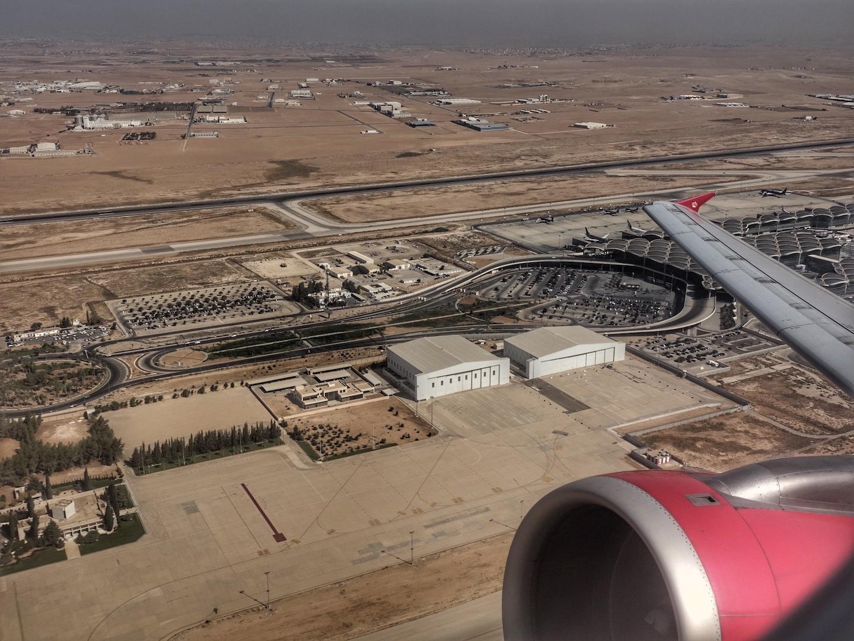 Ein letzte Blick auf den Queen Alia International Airport ...