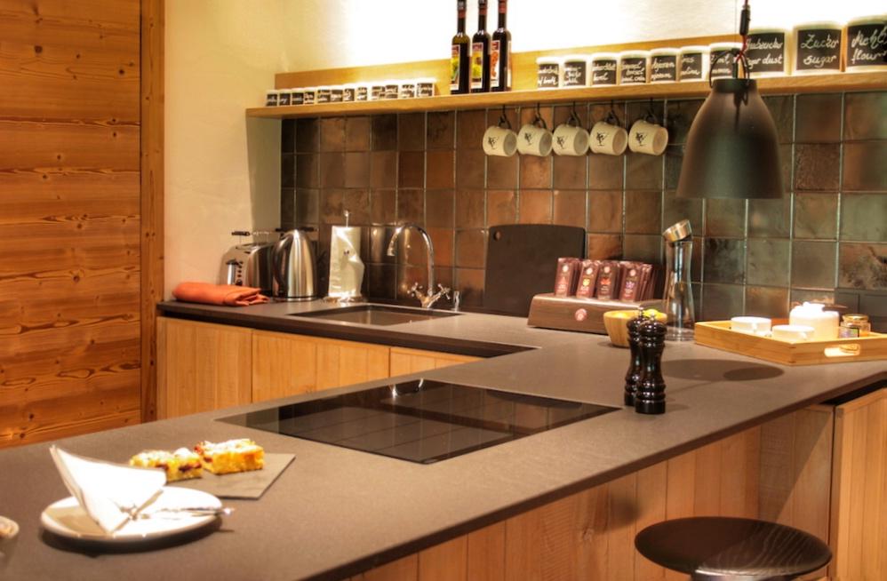 Den privaten Koch erwartet einevoll ausgestattete Küche mit allen Raffinessen