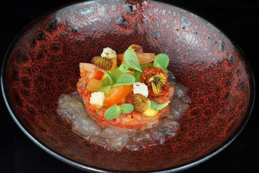Vegetarisches Tomatatentatar, ein Rezept vom Sous Chef