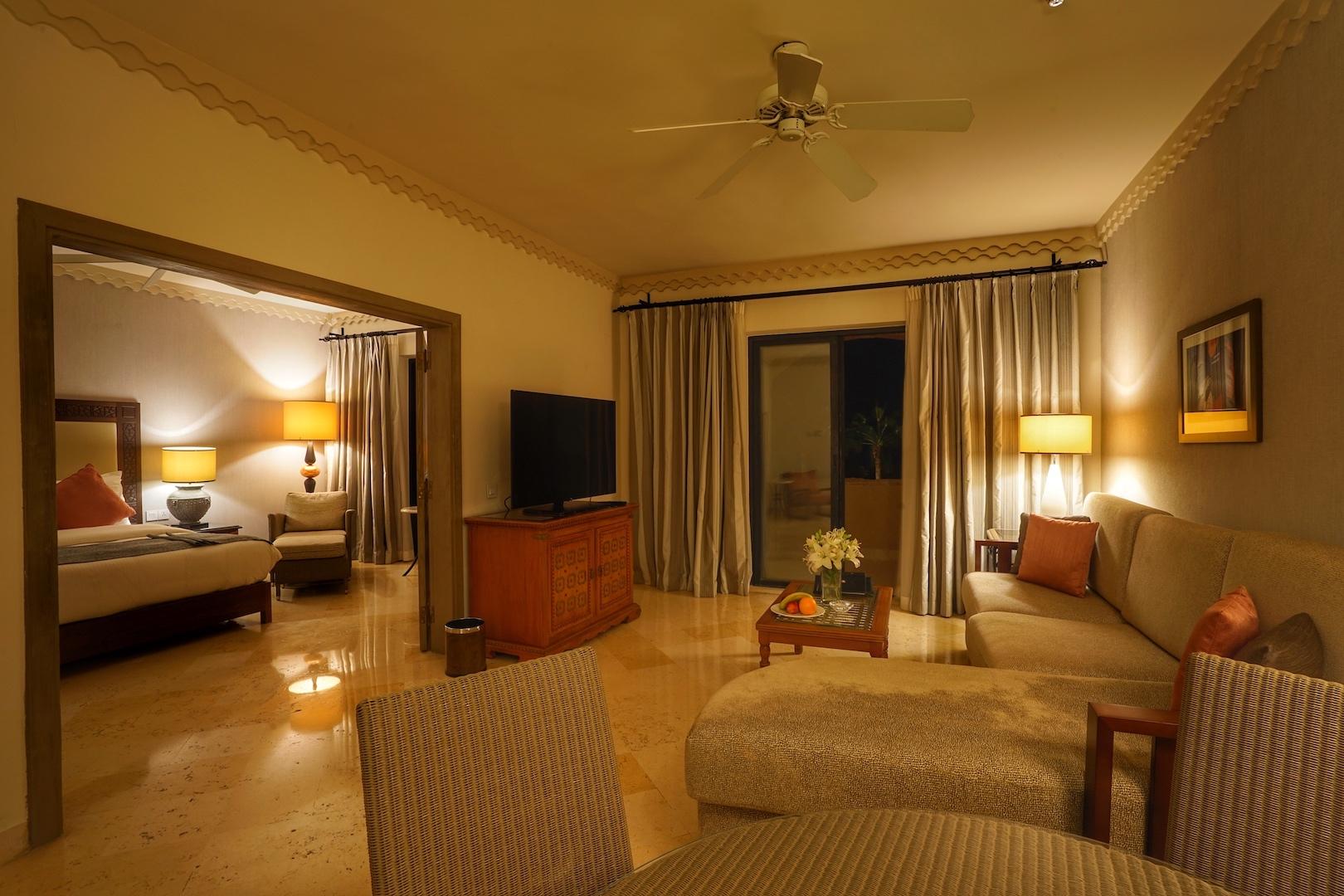 Die Deluxe Gästezimmer im Haupthaus garantieren einen besonderen Blick über die 5 Sterne Anlage